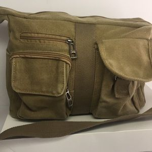 Green Canvas Crossbody Bag